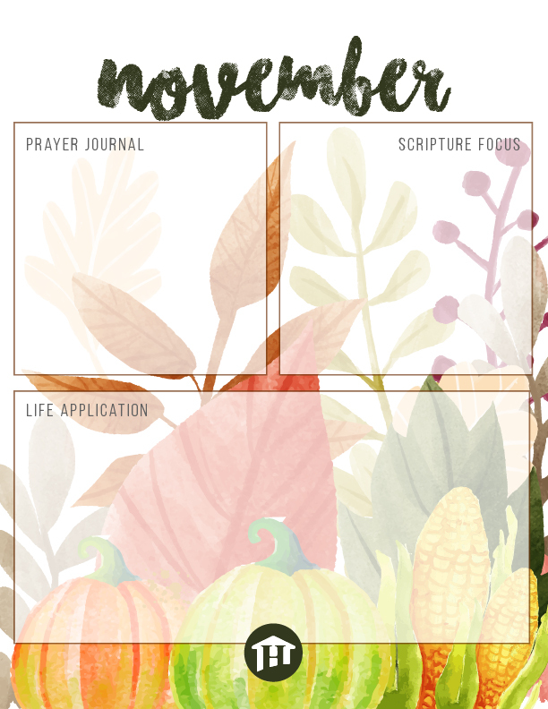 November Journal Printable