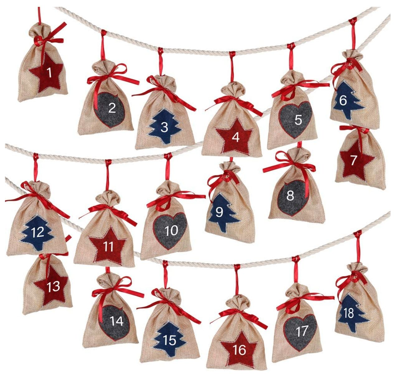 Wall Hanging Christmas Advent Calendar