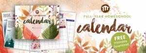 Free Printable Homeschool Calendar