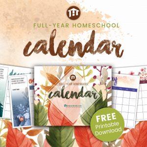 Free Printable Monthly Homeschool Calendar Pack