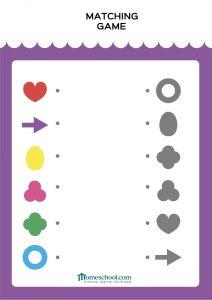 Preschool Printable match the shapes
