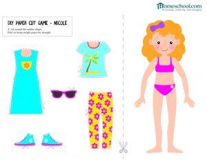 Preschool Printable Paper Doll Cutout