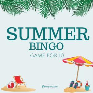 Summer Bingo Game for 10